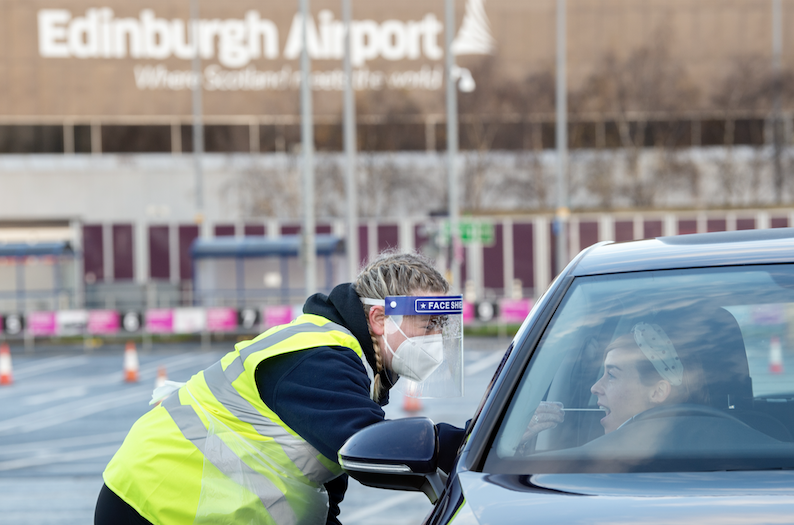 Express-Covid-test-Edinburgh-airport