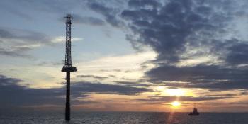 Inch Cape offshore met mast