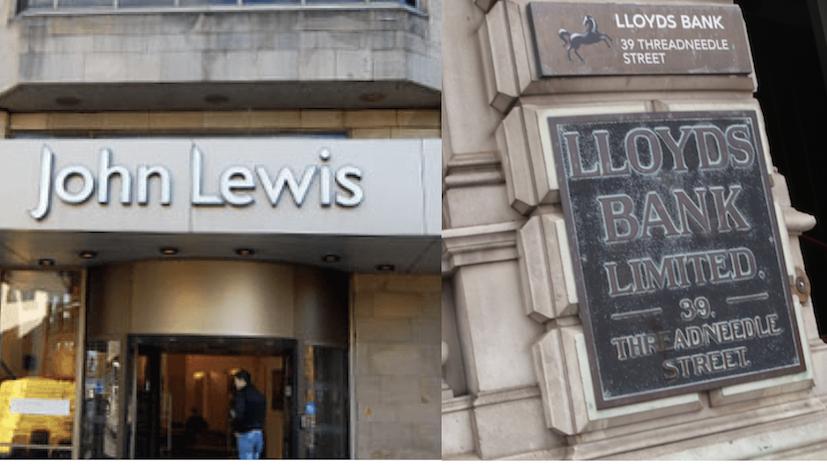 John Lewis and Lloyds