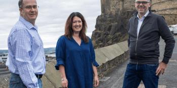 Stuart Fraser, Carolyn Jameson and Peter Ferry of Siccar