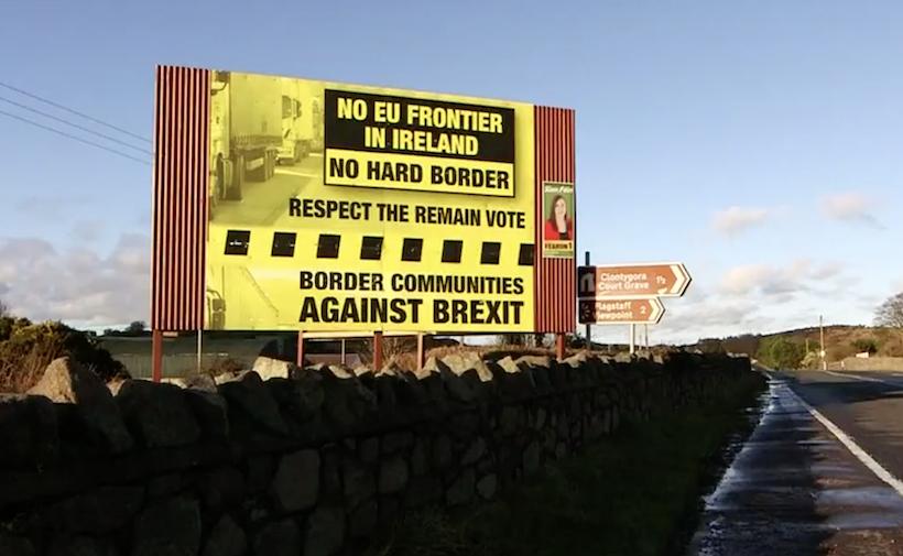 No hard border poster in Ireland