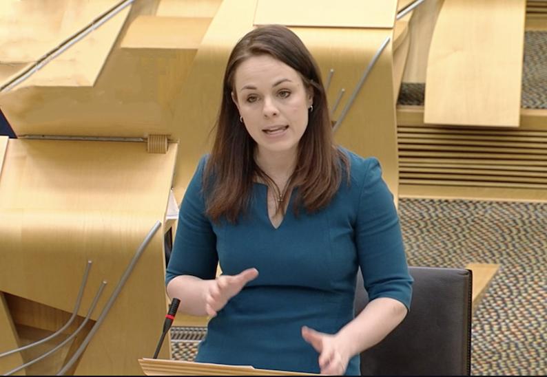 Kate Forbes delivering Scottish budget