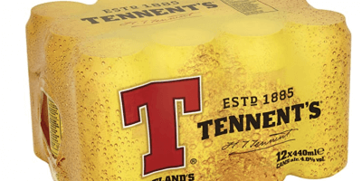 Tennent's plastic packaging