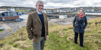 Matthias-Haag-NnG-Project-Director-and-Christine-Bell-Eyemouth-Harbour-Trust-Business-Manager