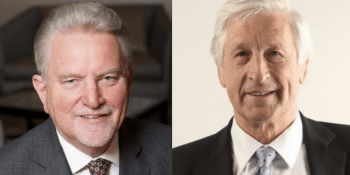 Sir Rod Aldridge and Nick Kuenssberg