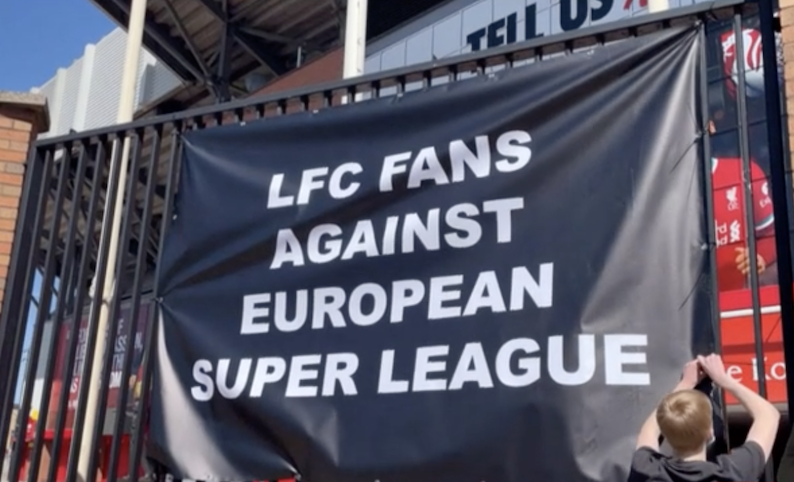 Banner at Liverpool