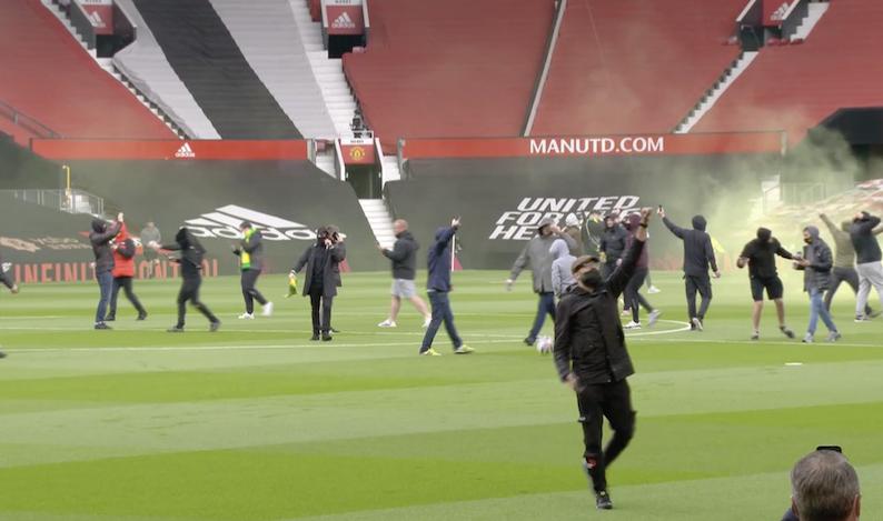 Man U fans at Old Trafford