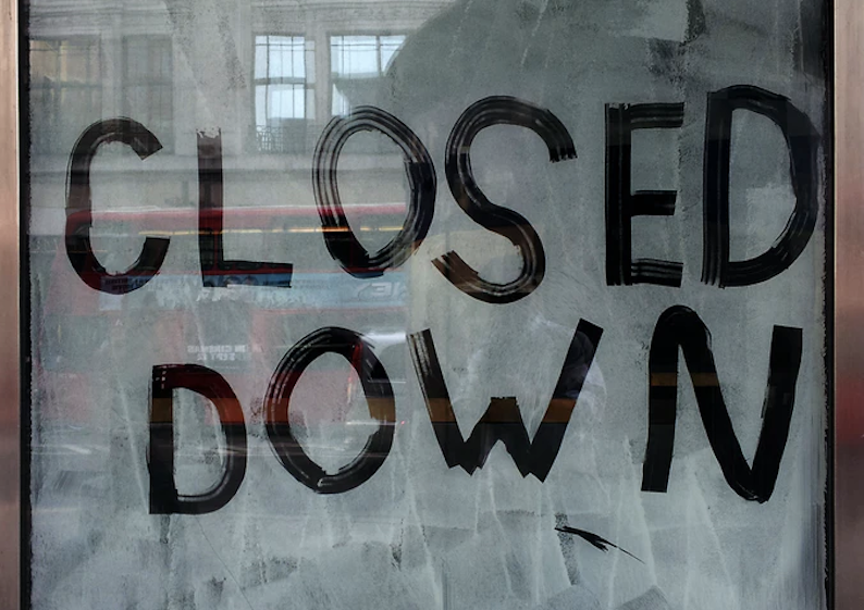 closed-down