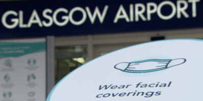 Glasgow Airporrt face coverings
