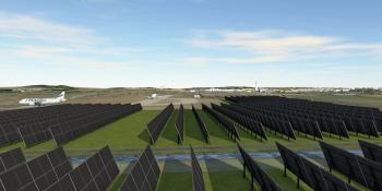 Solar farm at Edinburgh airport