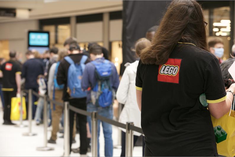 St James Quarter Lego queue