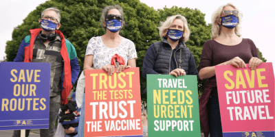 Travel protest