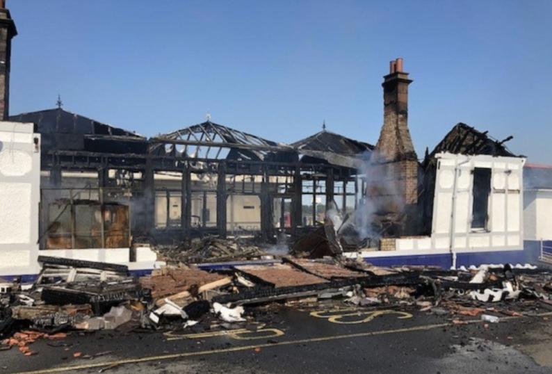 Troon-station-fire-damage