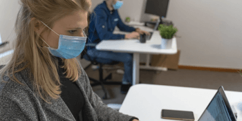 Face mask office workers