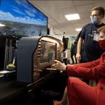 Nicola-Sturgeon-using-flight-simulator