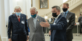 Philip Grant with Prince Charles